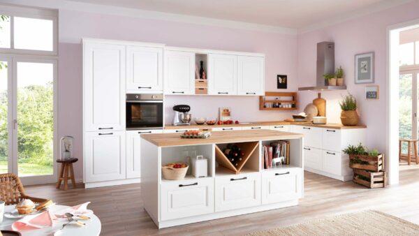 Culineo L-Küche Lorraine mit privileg Einbaugeräten